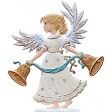 Angel with Bells 2016 Wilhelm Schweizer Christmas Pewter