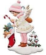 TEMPORARILY OUT OF STOCK - Angel with Stocking Wilhelm Schweizer Christmas Pewter