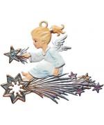 Wilhelm Schweizer Christmas Pewter Angel on Comet