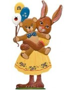 Wilhelm Schweizer Easter Oster Pewter Anno 1991 Balloon Bunny