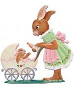 Wilhelm Schweizer Easter Oster Pewter Anno 1992 Mamma Bunny