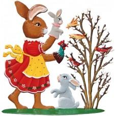 Wilhelm Schweizer Easter Oster Pewter Anno 1997 Puppet Bunny