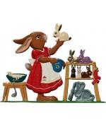 Wilhelm Schweizer Easter Ostern Pewter Anno 2006 Bunny Baker