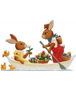 Wilhelm Schweizer Easter Ostern Pewter Anno 2008 Bunny Boat