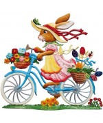 Wilhelm Schweizer Easter Oster Pewter 2016 Bunny on Bike - TEMPORARILY OUT OF STOCK