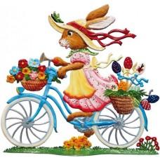 Wilhelm Schweizer Easter Oster Pewter 2016 Bunny on Bike