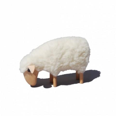 Meier White Sheep Eating