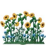 Wilhelm Schweizer Easter Oster Pewter Flower Garden Sunflower