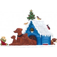 Doghouse Family Wilhelm Schweizer Christmas Pewter