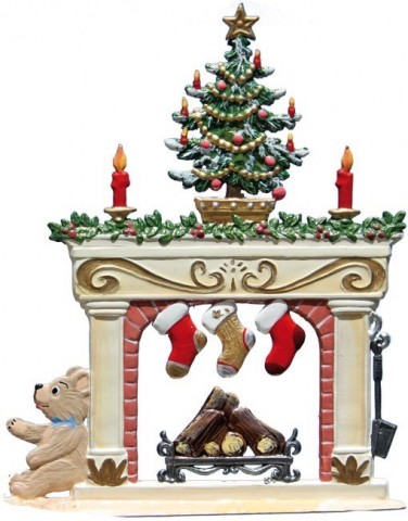 Wilhelm Schweizer Christmas Pewter Fireplace - TEMPORARILY OUT OF STOCK
