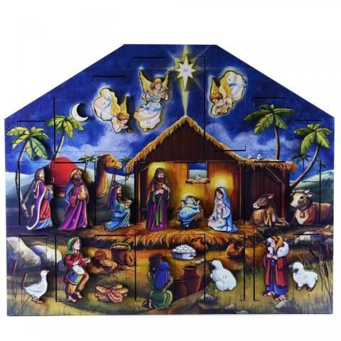 NEW - Byers Choice Musical Advent Calendar Nativity