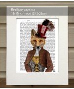 Vivienne Steampunk Fox FabFunky Book Print - TEMPORARILY OUT OF STOCK