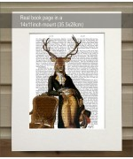 Deer and Chair FabFunky Book Print