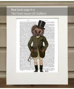 TEMPORARILY OUT OF STOCK - Hedgehog Rider FabFunky Book Print