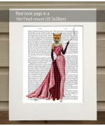 Glamour Fox in Pink FabFunky Book Print