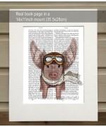 Aviator Piggy Fab Funky Book Print