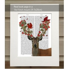 Deer and Love Birds FabFunky Book Print