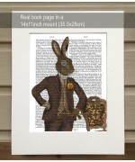 TEMPORARILY OUT OF STOCK - Dapper Hare FabFunky Book Print