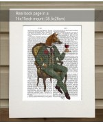 Wine Taster Fox FabFunky Book Print