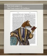 Book Reader Fox FabFunky Book Print