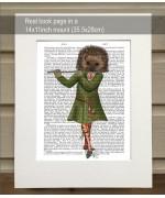 NEW - Hedgehog Minstrel FabFunky Book Print