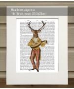 Deer Minstrel FabFunky Book Print