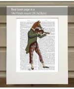 Fox Minstrel FabFunky Book Print - TEMPORARILY OUT OF STOCK