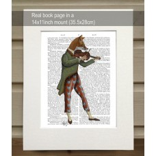 Fox Minstrel FabFunky Book Print