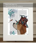 Milliners Dog Beagle FabFunky Book Print - TEMPORARILY OUT OF STOCK