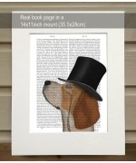 Formal Beagle FabFunky Book Print