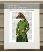 Fox in Green Jacket FabFunky Book Print