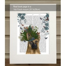 Milliners Dog German Shepherd FabFunky Book Print - TEMPORARILY OUT OF STOCK
