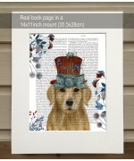 Milliners Dog Golden Retriever FabFunky Book Print