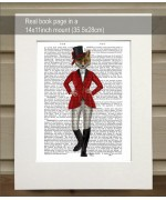Fox Lady Hunter FabFunky Book Print