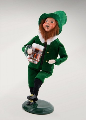 TEMPORARILY OUT OF STOCK - Byers' Choice Leprechaun with Pint - Irish