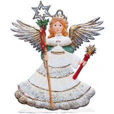 Angel with Candle and Staff 2017 Wilhelm Schweizer Christmas Pewter