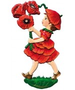 NEW - 2017 Poppy Flower Child Wilhelm Schweizer Hanging Ornament