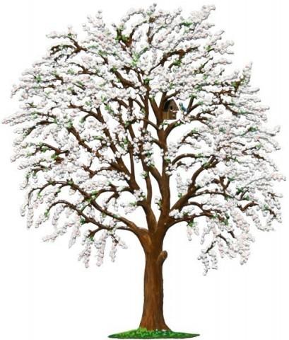 Tree Bluetenbaum Standing Pewter Wilhelm Schweizer - TEMPORARILY OUT OF STOCK
