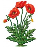 TEMPORARILY OUT OF STOCK - Poppy Flowers Standing Pewter Wilhelm Schweizer
