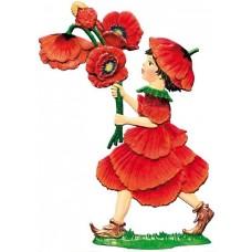 2017 Poppy Flower Child Wilhelm Schweizer Standing Pewter