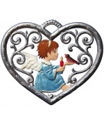 Angel in Heart Window Wall Hanging Wilhelm Schweizer