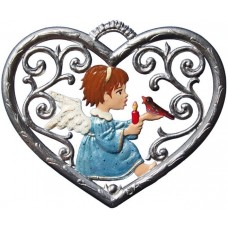 Angel in Heart Window Wall Hanging Wilhelm Schweizer