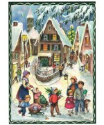 TEMPORARILY OUT OF STOCK - NEW - Old Paper German Advent Calendar