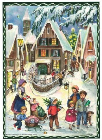 Old Paper German Advent Calendar