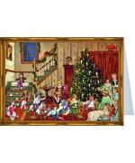 Weihnachtskarte Advent Calendar Card