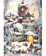 TEMPORARILY OUT OF STOCK - NEW - Old German Paper Advent Calendar
