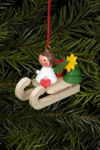 Christian Ulbricht German Ornament Angel on Sled - TEMPORARILY OUT OF STOCK