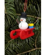 Christian Ulbricht German Ornament Snowman on Sled