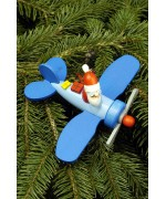 Christian Ulbricht German Ornament Santa in Plane - TEMPORARILY OUT OF STOCK