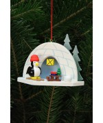 TEMPORARILY OUT OF STOCK - Christian Ulbricht German Ornament Igloo with Penguin
